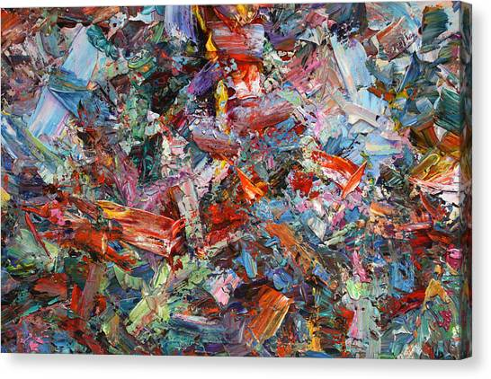 Abstract Expressionism Canvas Print - Paint Number 42-a by James W Johnson