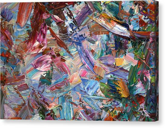 Abstract Expressionism Canvas Print - Paint Number 42-b by James W Johnson
