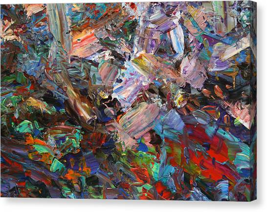 Abstract Expressionism Canvas Print - Paint Number 42-c by James W Johnson