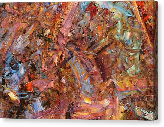 Abstract Expressionism Canvas Print - Paint Number 43b by James W Johnson