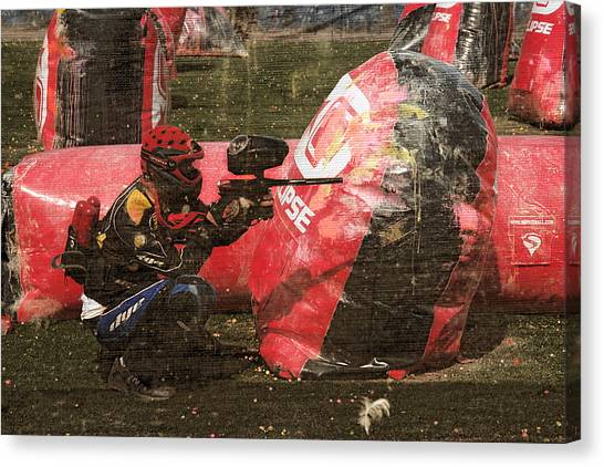 Call Of Duty Canvas Print - Paintball by Viktor Savchenko