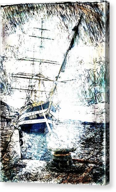 Painted Amerigo Vespucci Canvas Print