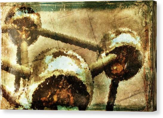 Painted Atomium Canvas Print