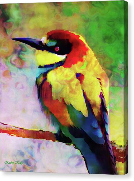 Painted Bee Eater Canvas Print