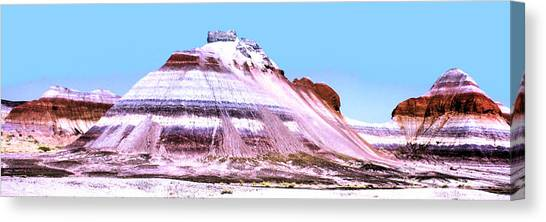 Painted Desert 0289 Canvas Print by Sharon Broucek
