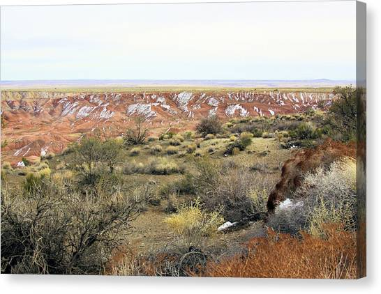 Painted Desert Winter 0571 Canvas Print by Sharon Broucek