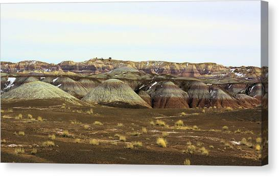 Painted Desert Winter 0576 Canvas Print by Sharon Broucek