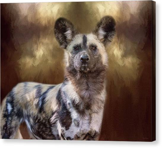 Painted Dog Portrait II Canvas Print