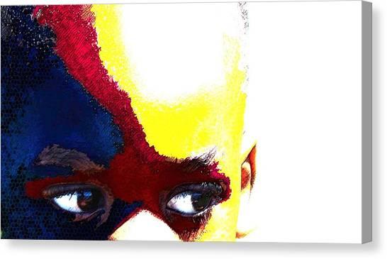 Painted Face 1 Canvas Print by LeeAnn Alexander