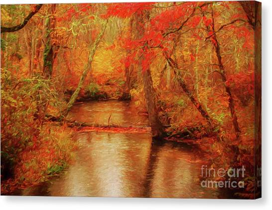 Painted Fall Canvas Print