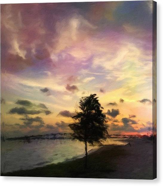 Mississippi Canvas Print - Painted Front Beach #oceansprings by Joan McCool