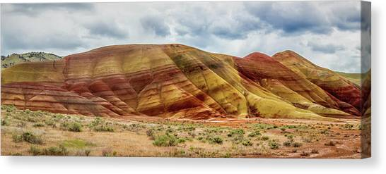 Painted Hills Panorama 2 Canvas Print