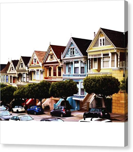 Scotty Canvas Print - Painted Ladies @ San Fran , Loved San by Scotty Brown
