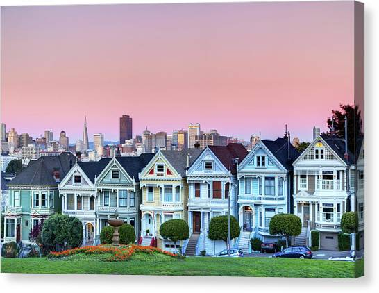 Squares Canvas Print - Painted Ladies At Dusk by Photo by Jim Boud