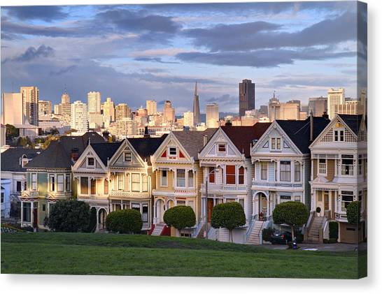 Painted Ladies In Sf California Canvas Print
