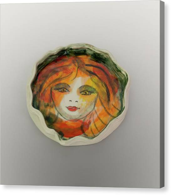 Canvas Print featuring the photograph Painted Lady-1 by David Coblitz