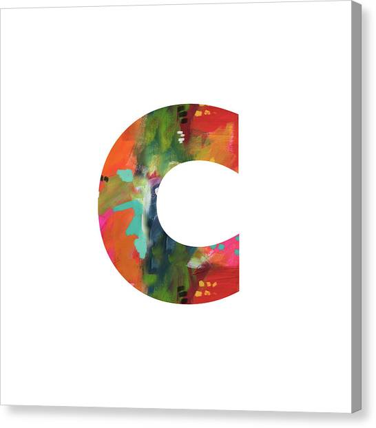 Charlotte Canvas Print - Painted Letter C-monogram Art By Linda Woods by Linda Woods