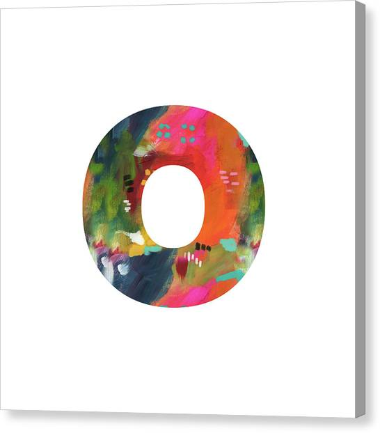 Named Canvas Print - Painted Letter O -monogram Art By Linda Woods by Linda Woods