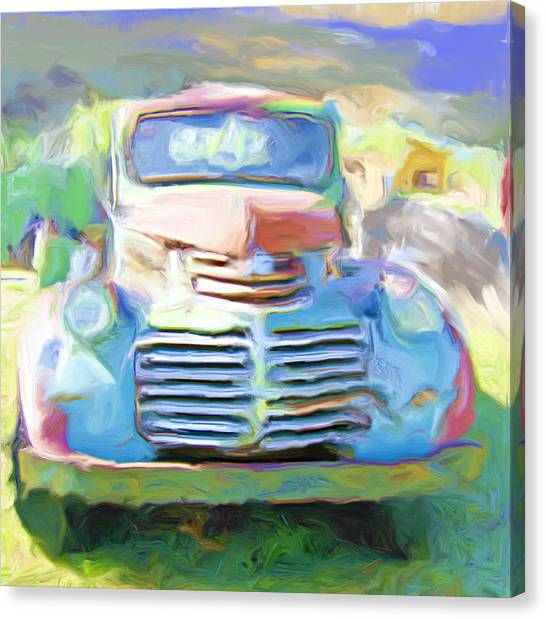 Painted Canvas Print by Lou  Novick