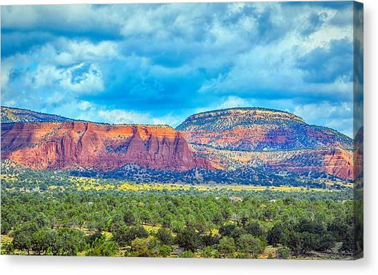 Canvas Print featuring the photograph Painted New Mexico by AJ Schibig