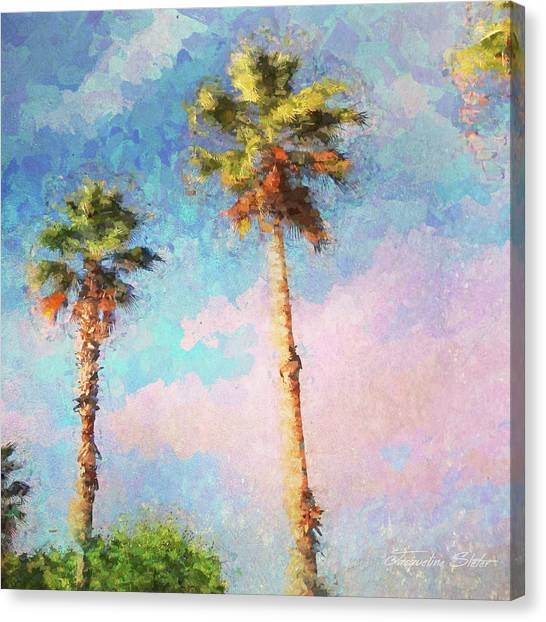 Painted Palms Canvas Print