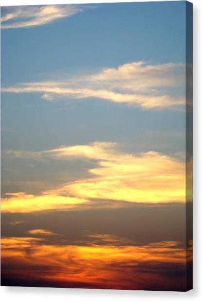 Painted Sky Canvas Print by Ana Villaronga