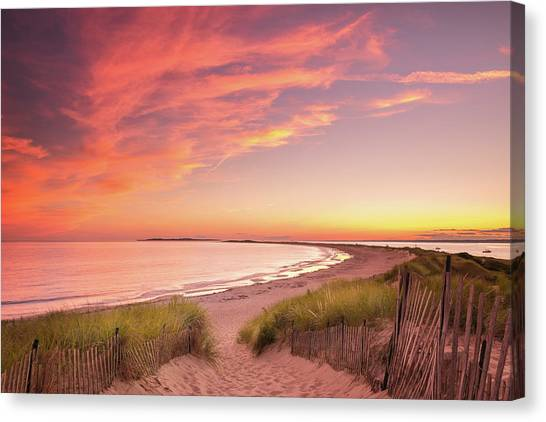Painted Sky Over Napatree Point Canvas Print