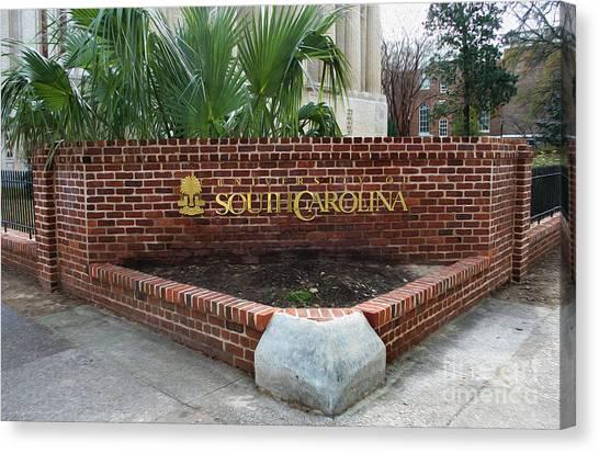 University Of South Carolina Canvas Print - Painted University Of South Carolina by Skip Willits