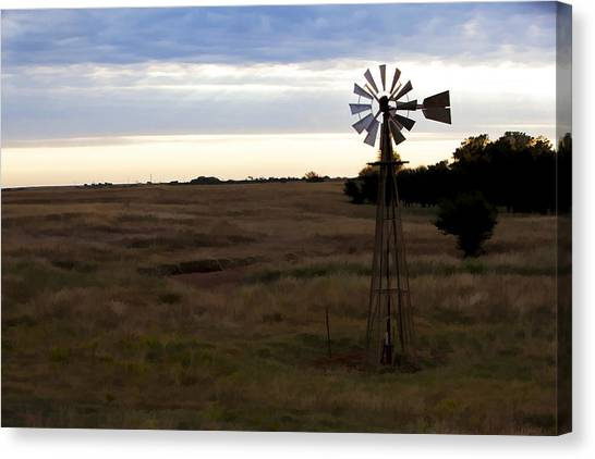 Painted Windmill Canvas Print
