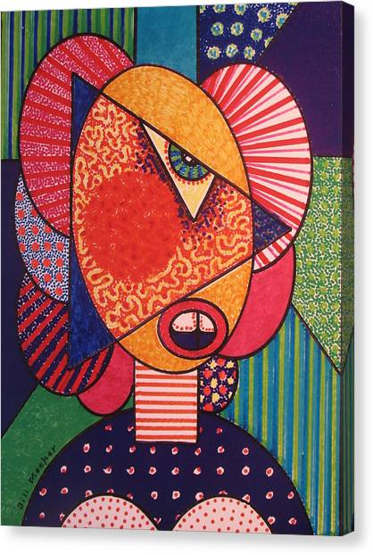 Painted Woman Canvas Print by Bill Meeker