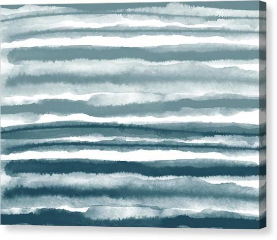 Stripe Canvas Print - Painterly Beach Stripe 1- Art By Linda Woods by Linda Woods