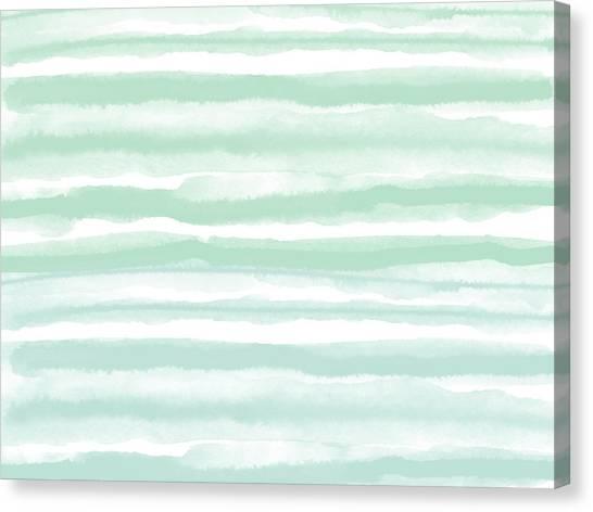 Stripe Canvas Print - Painterly Beach Stripe 2- Art By Linda Woods by Linda Woods