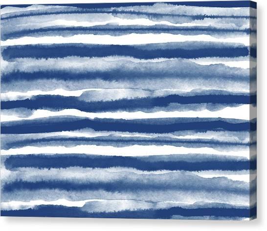 Lines Canvas Print - Painterly Beach Stripe 3- Art By Linda Woods by Linda Woods
