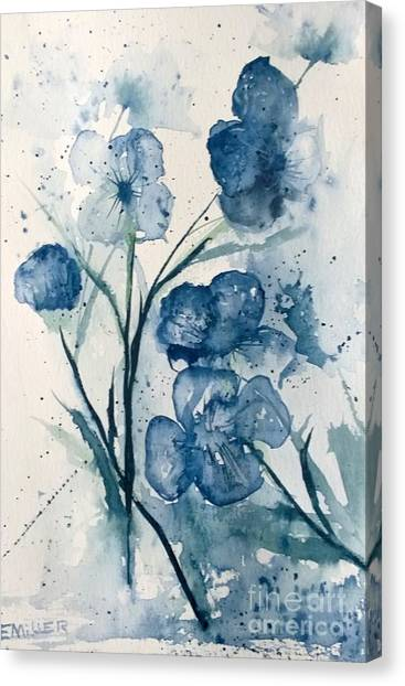 Painterly  Blues Canvas Print