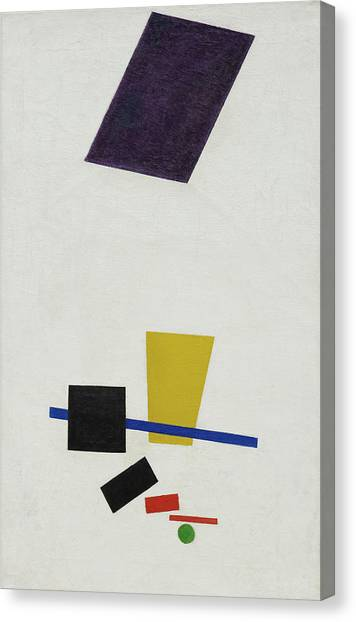 Suprematism Canvas Print - Painterly Realism Of A Football Player - Color Masses In The 4th Dimension by Kazimir Malevich