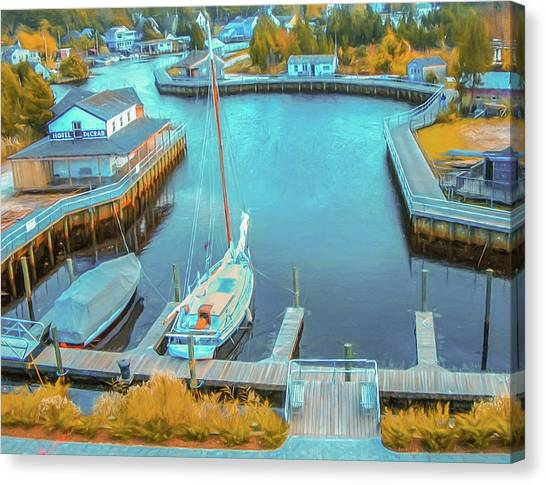 Painterly Tuckerton Seaport Canvas Print