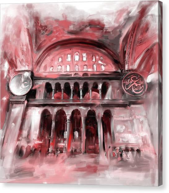 Byzantine Canvas Print - Painting 758 2 Hagia Sophia by Mawra Tahreem