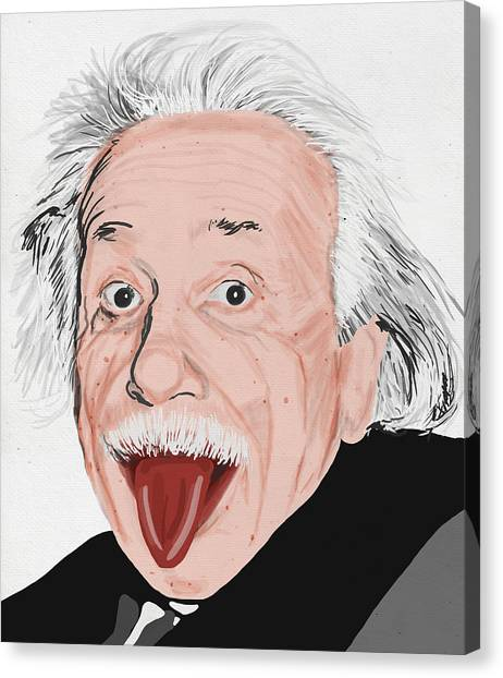 Genius Canvas Print - Painting Of Albert Einstein by Setsiri Silapasuwanchai