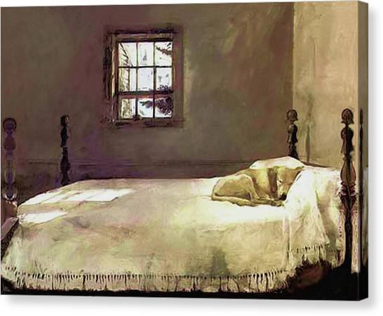 Painting Of The Print, Master Bedroom Canvas Print