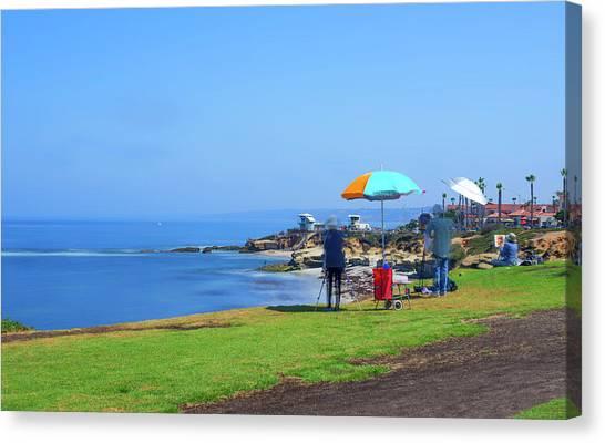 Painting The Coastline Canvas Print