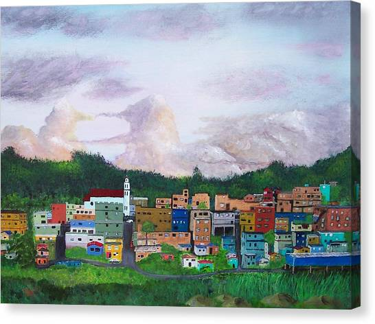 Painting The Town Canvas Print by Tony Rodriguez