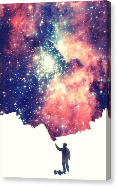 Spock Canvas Print - Painting The Universe Awsome Space Art Design by Philipp Rietz