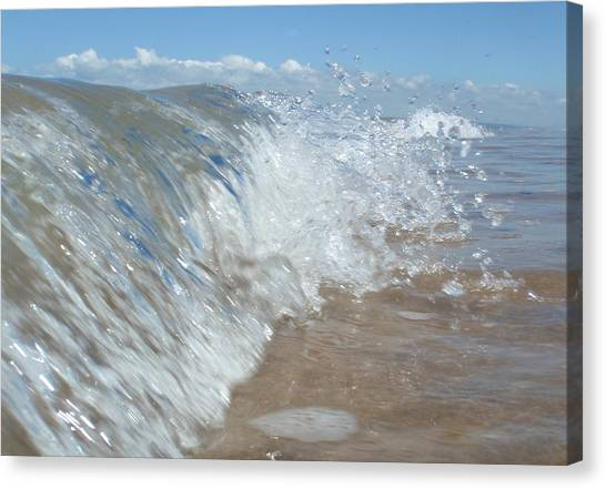 Painting With Waves Canvas Print
