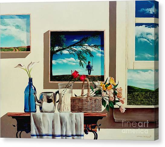 Paintings Within A Painting Canvas Print
