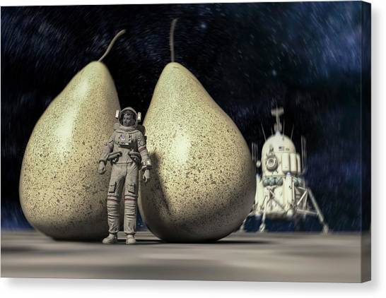 Space Suit Canvas Print - Pair Discovered In Space by Betsy Knapp
