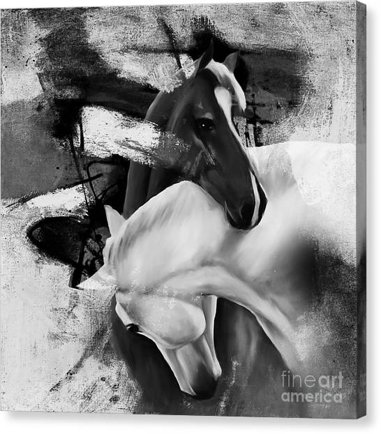 Libertarian Canvas Print - Pair Of Horse  by Gull G