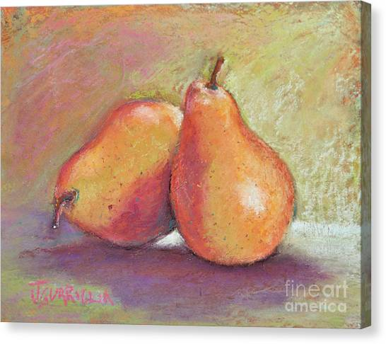 Pair Of Pears Canvas Print by Joyce A Guariglia