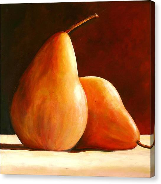 Pear Canvas Print - Pair Of Pears by Toni Grote