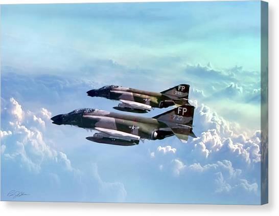 Sidewinders Canvas Print - Pair Of Wolves by Peter Chilelli