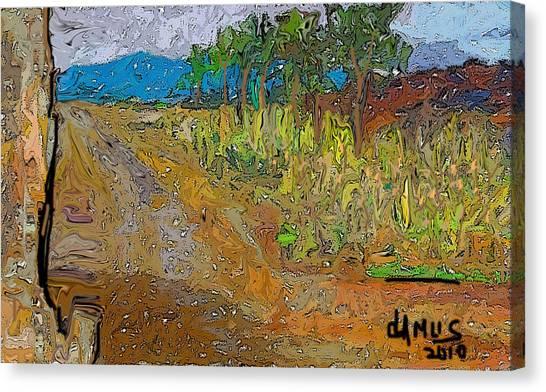 Paisaje - Chile - Campo 1 Canvas Print by Carlos Camus